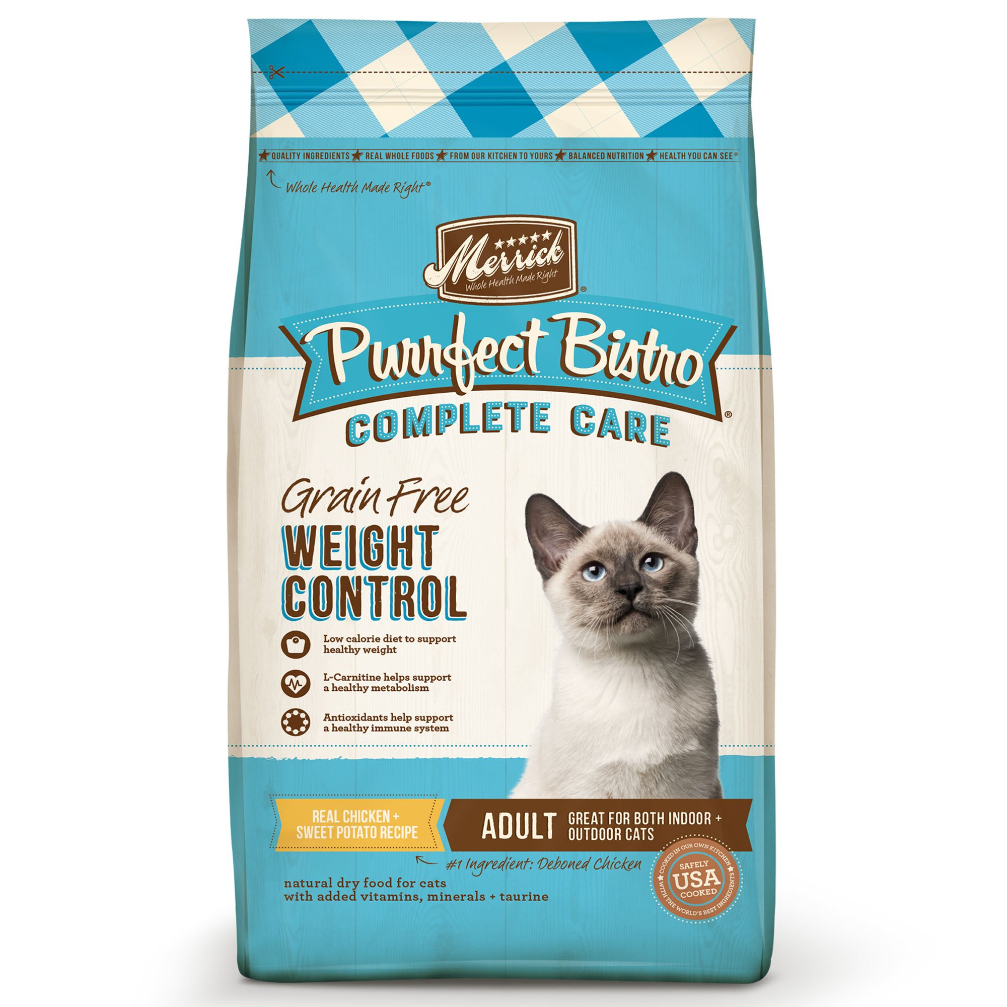 Merrick Purrfect Bistro Complete Care Grain Free Weight Control Dry Cat Food Recipe by Merrick