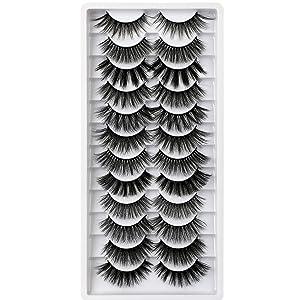Winifred False Eyelashes 12 Styles 3D Fake Eyelashes Natural False Lashes Pack Fluffy Wispy Lashes