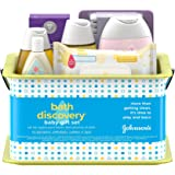 Johnson's Bath Discovery Gift Set for Parents-to-Be, Caddy with Baby Bath Time & Skin Care Essentials, Includes Baby…