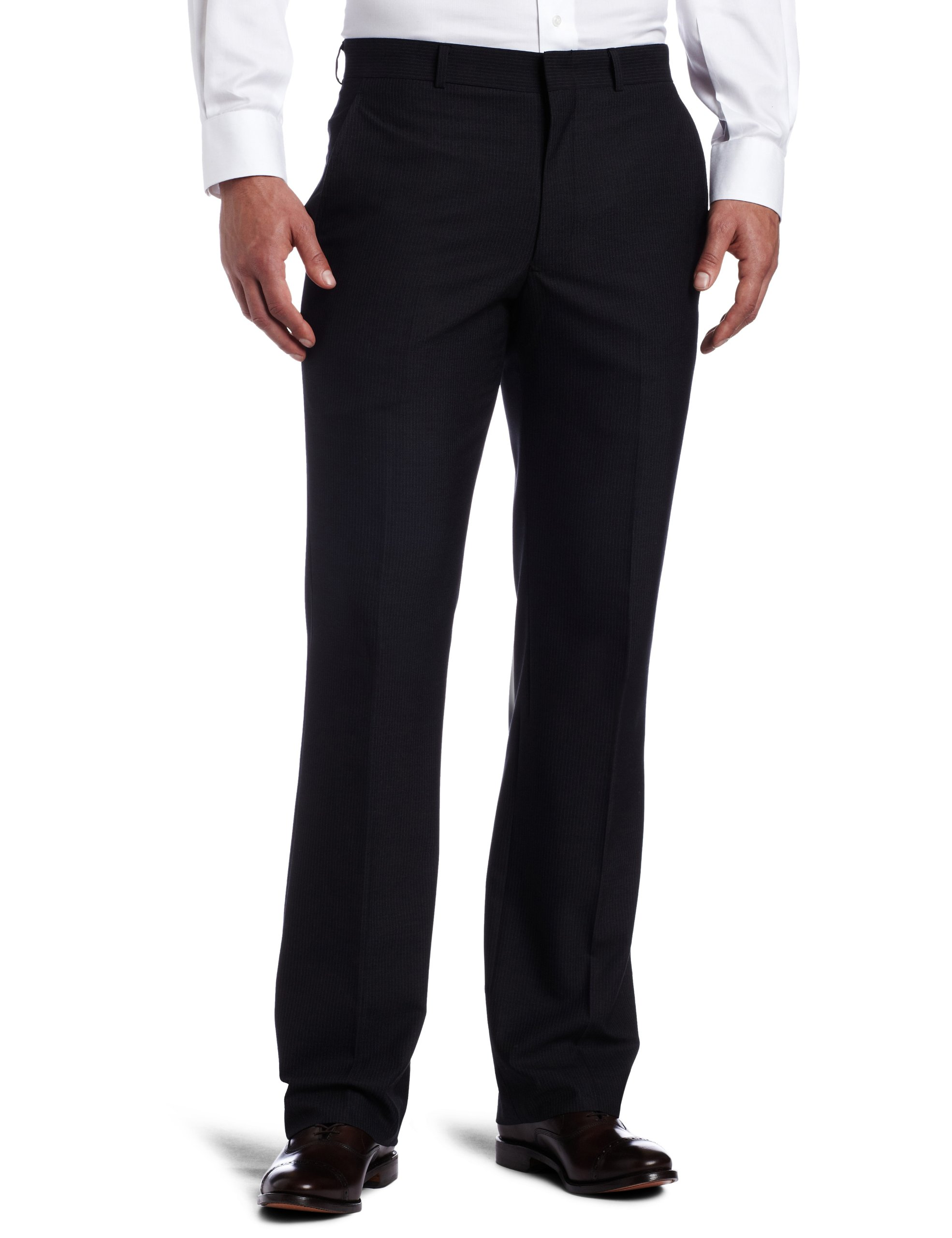 Kenneth Cole REACTION Men's Grey Stripe Suit Separate Pant, Grey Stripe, 40x32