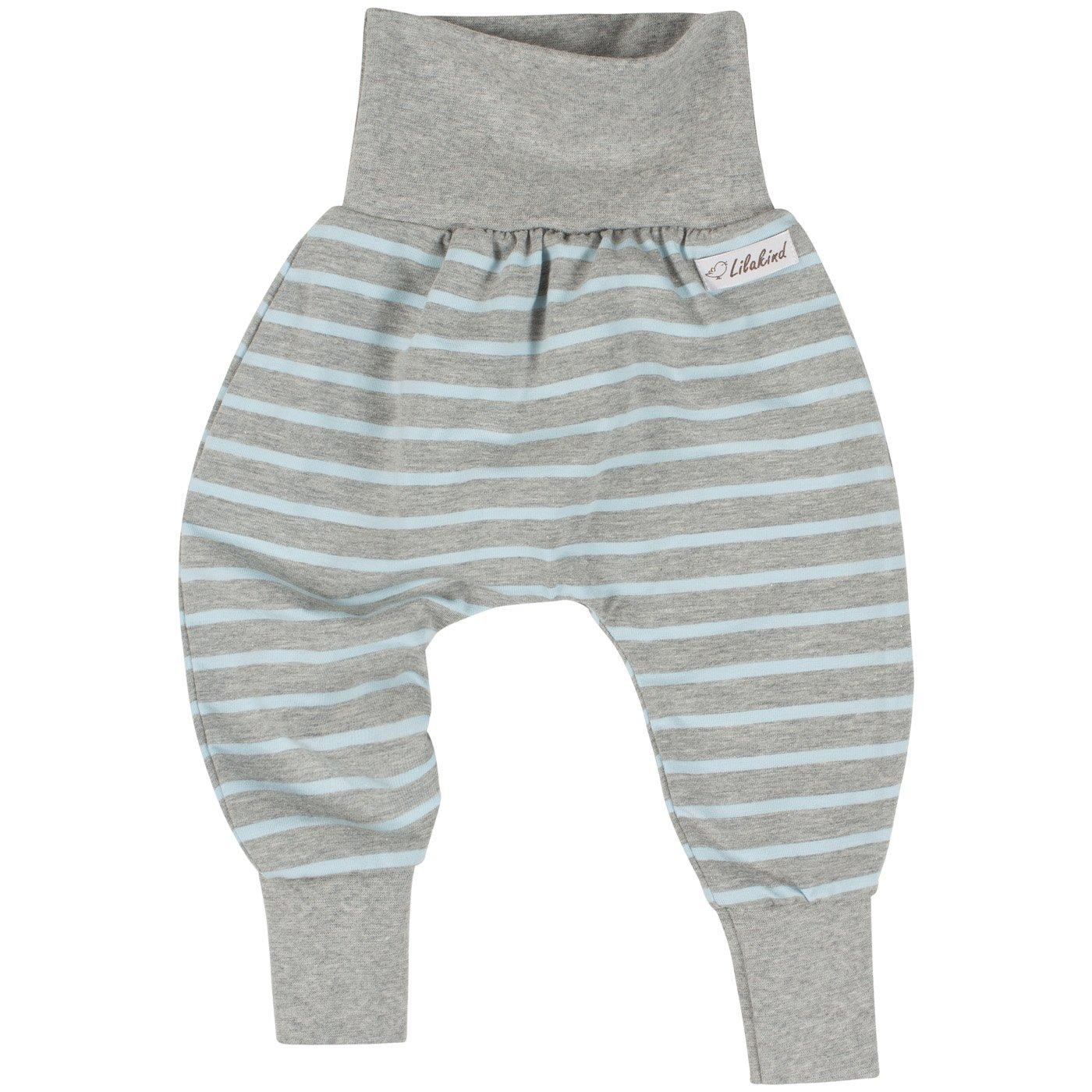 68 Lilakind Pumphose Hose Baby-Hose Jersey Baumwolle Kinder-Hose Sterne Grau-Rosa Gr 92 Made in Germany 56 86 62 50 74 80