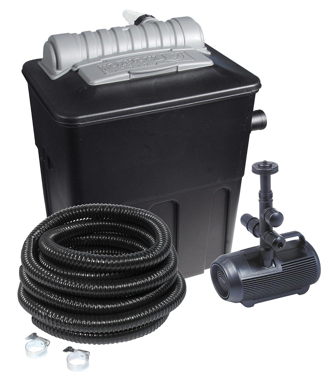 Hozelock Teichfilterset 5000, Mehrfarbig, Filter, Pumpe. Teichschlauch und Schlauchschellen