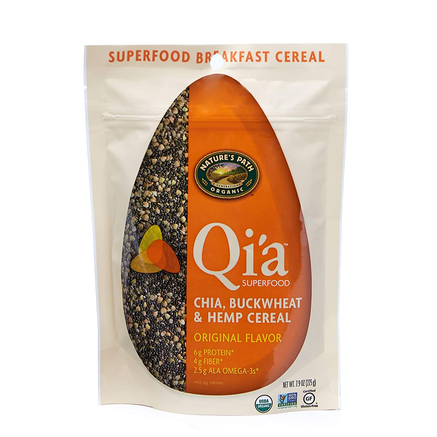 Nature's Path Qi'a Superfood Topper with Chia, Buckwheat + Hemp, Healthy, Organic & Gluten Free, 7.9 Ounces