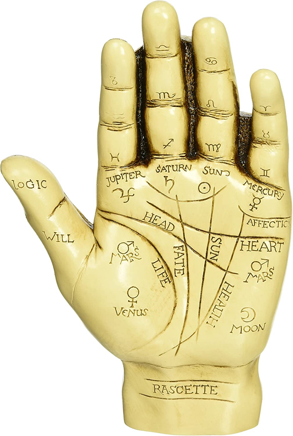 Design Toscano PD9903 The Palmistry Hand Sculpture,ancient ivory