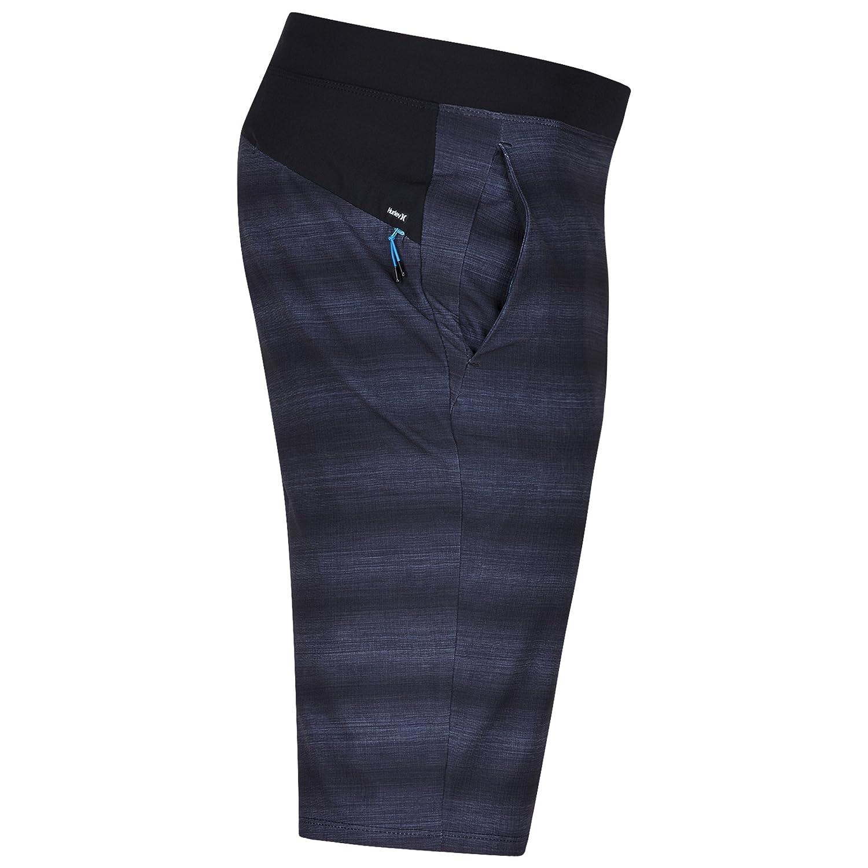Hurley New Mens Alpha Trainer Solid Short Polyester Elastane Black