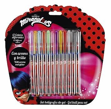 Safta Set De 12 Bolígrafos De Colores Con Tinta De Gel Ladybug