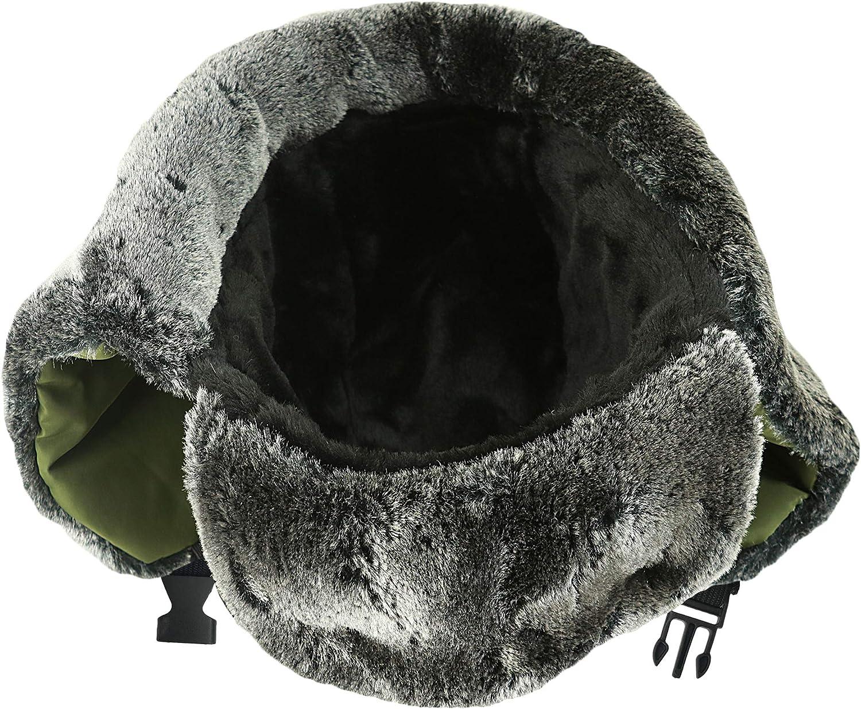 Russian Style Hat Ushanka Trooper Trapper Hats for Men and Women Windproof Ski Mask Winter Face Mask For Men