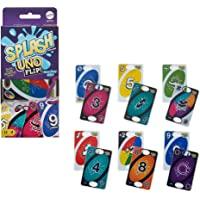 Mattel Games Juego de Cartas Uno Flip Splash con 112 Tarjetas Resistentes al Agua de 2 Caras, Noche de Juego, Regalo de…