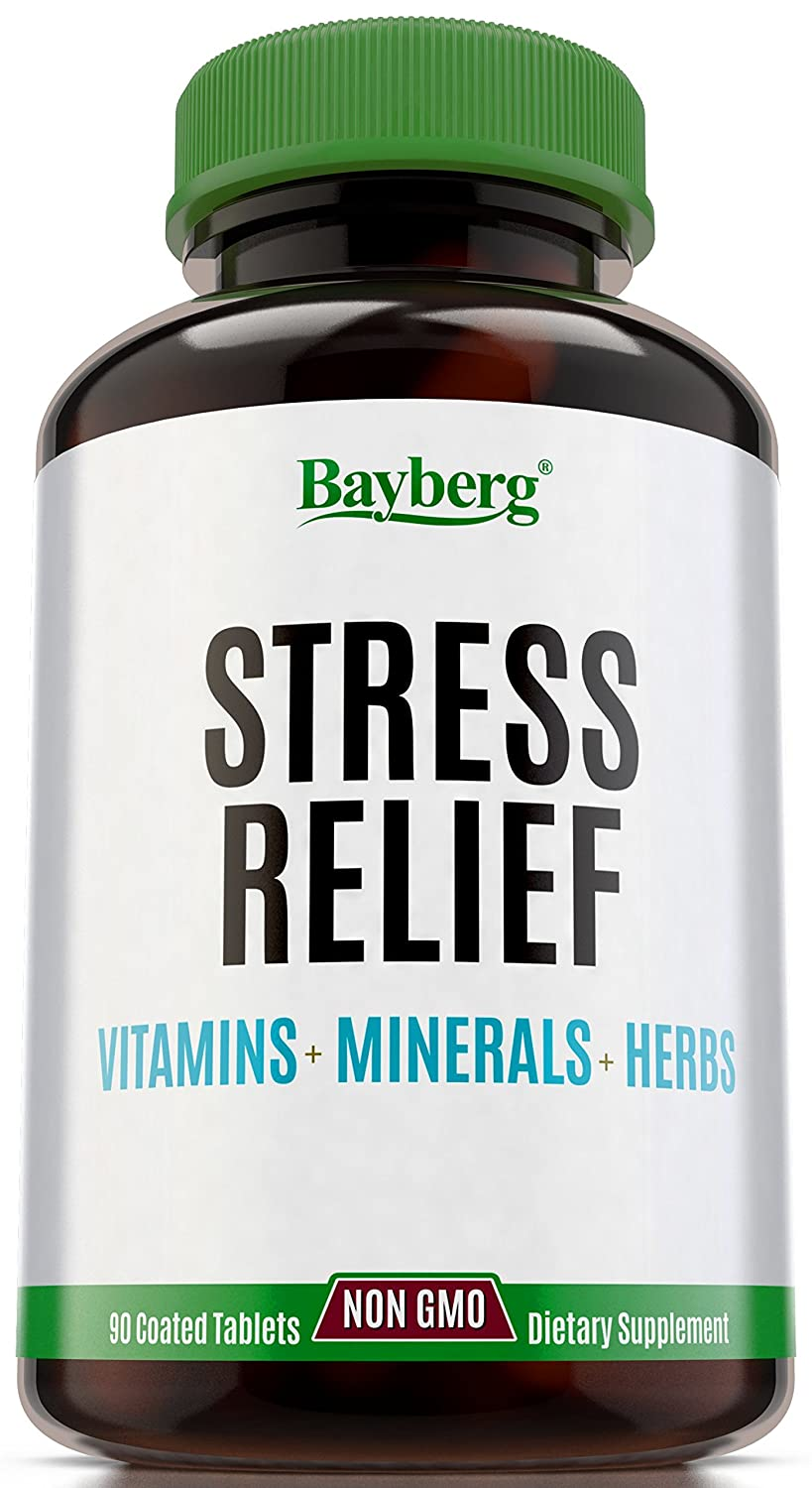 Multivitamins & Anti Stress formula with Minerals and Herbs  Immune and  Mood Support Supplement,