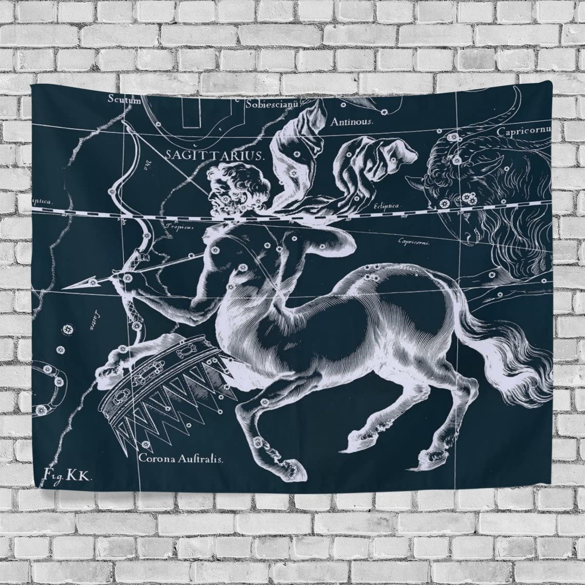WellLee Wall Tapestry,Fantasy Constellation Graph Sagittarius,Dorm Throw Bedroom Living Room Window Doorway Curtain Home Decor,Tapestry Wall Hanging,90×60 Inch