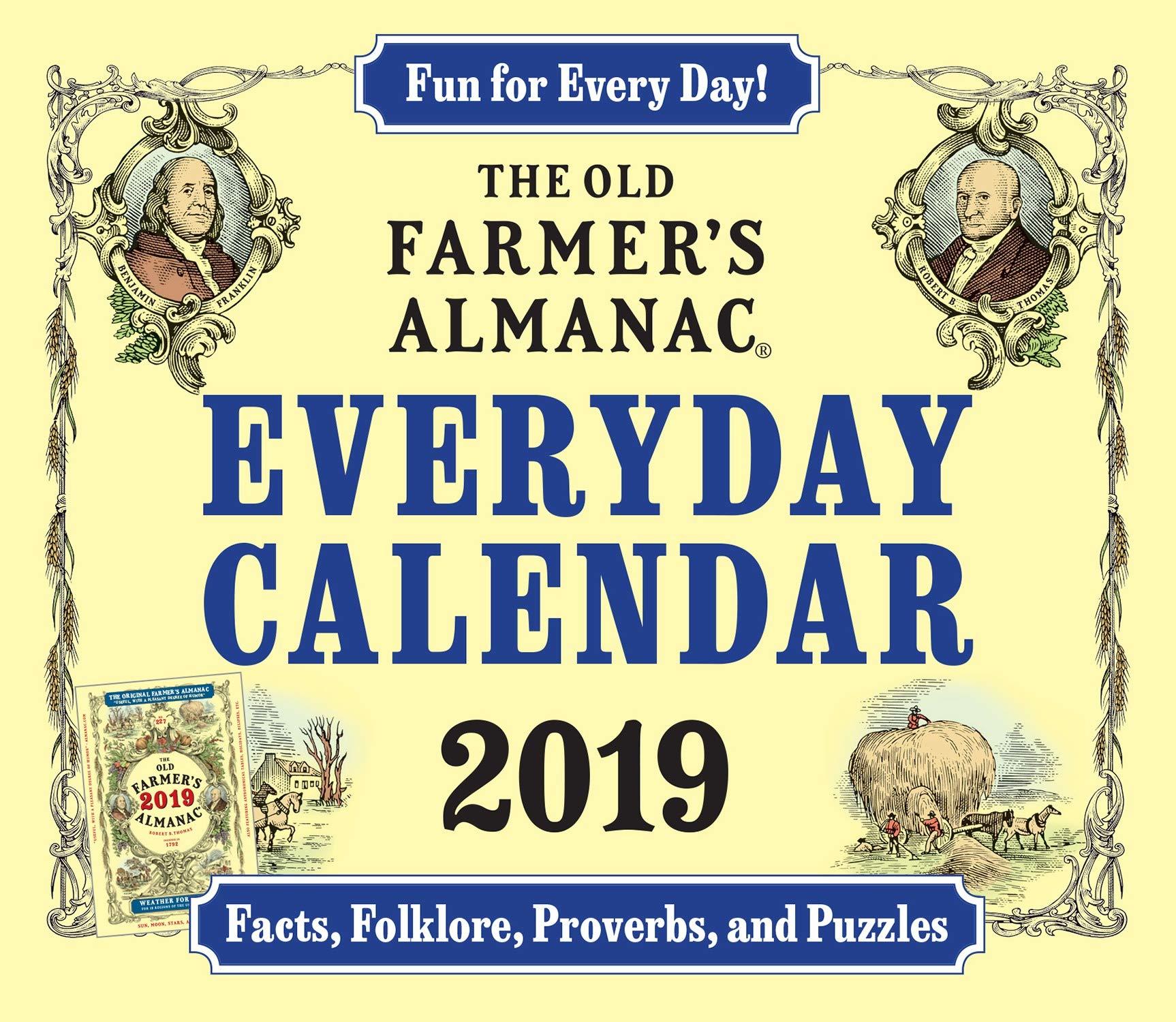 Amazon com: The Old Farmer's Almanac 2019 Everyday Calendar