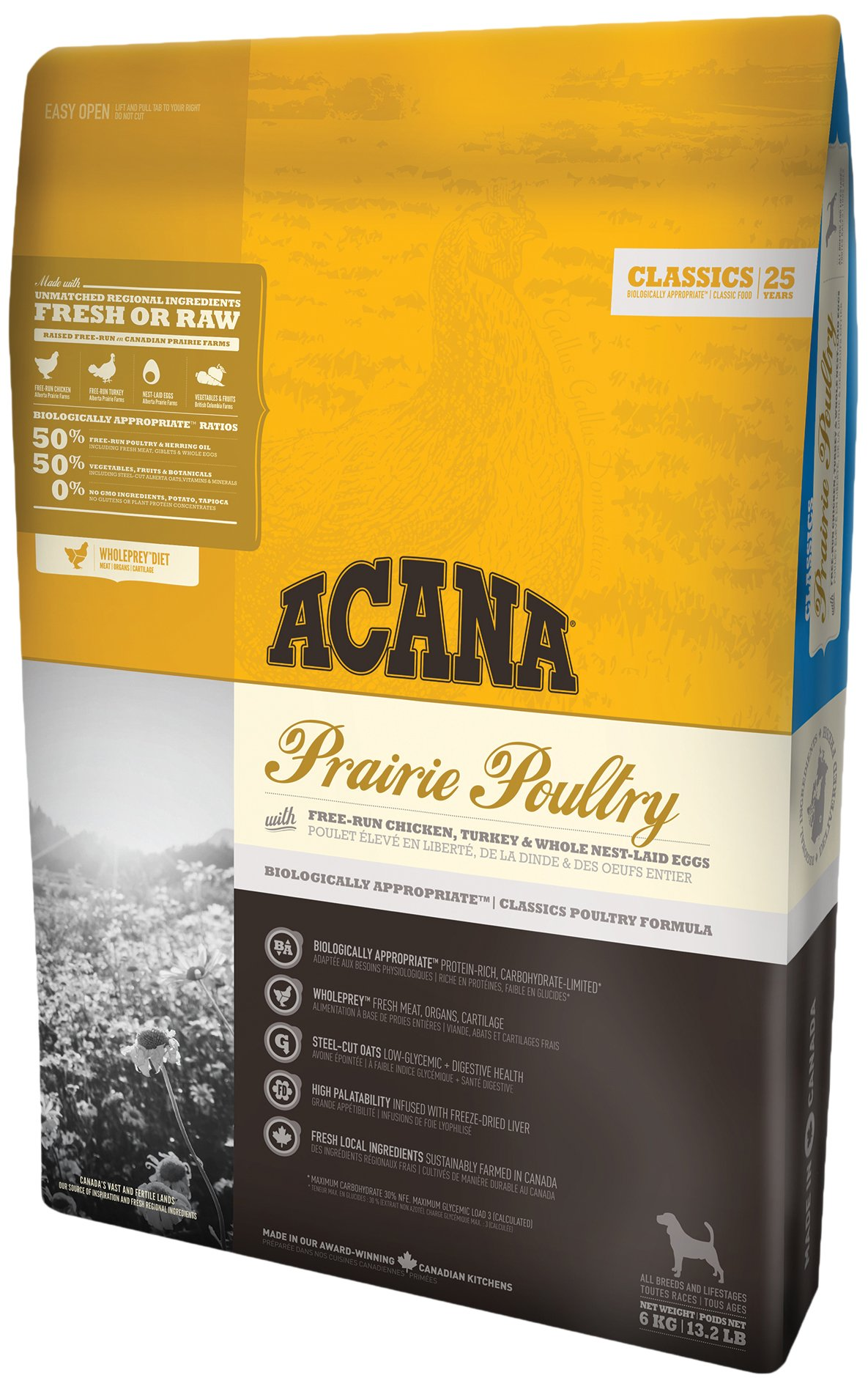 ACANA Prairie Poultry Comida para Perros - 11400 gr