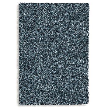 Teppich bunt hochflor  Hochflor Shaggy Teppich TWILIGHT 39001 5522 petrol / blau in 160 x ...