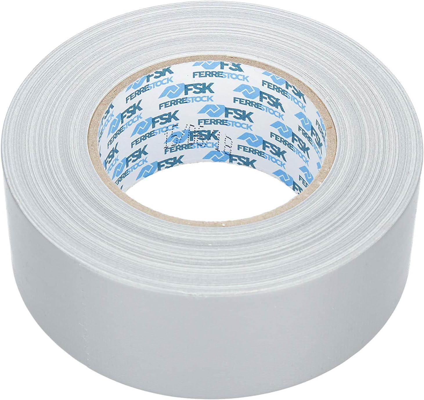 50mm x 10m en Color Plata Ferrestock FSKTCT001 Rollo de Cinta Americana f/ácil de Cortar no Deja residuos 50 x 10 mm 3 Capas para una Mayor Resistencia