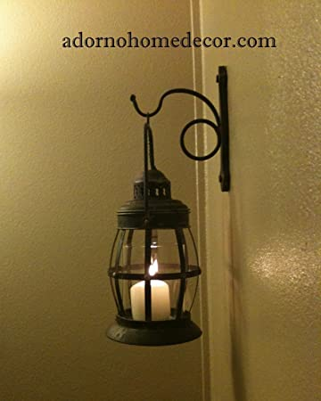 Amazon.com: Metal Lantern Wall Sconce Rustic Industrial Antique Vintage  Shabby Unique Chic: Home U0026 Kitchen