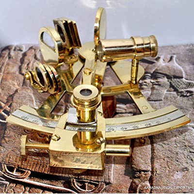 "Marine 4"" Solid Brass Sextant 