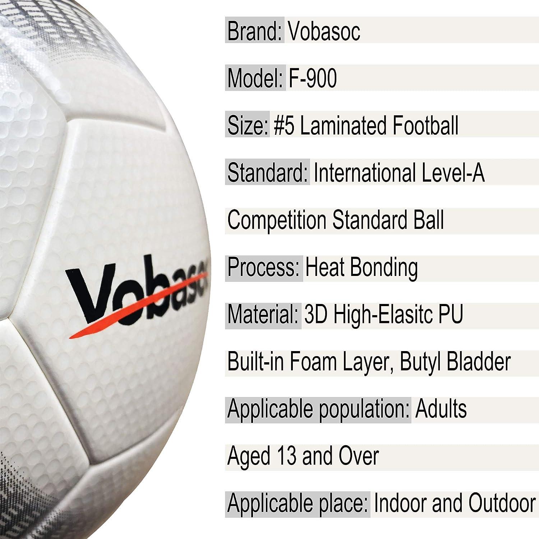 Vobasoc Palloni da partita # 5 Training Competition Insegnamento Livello internazionale A Competizione Standard Ball Adult Child 3D High Elasitc PU Heat Bonding Calcio