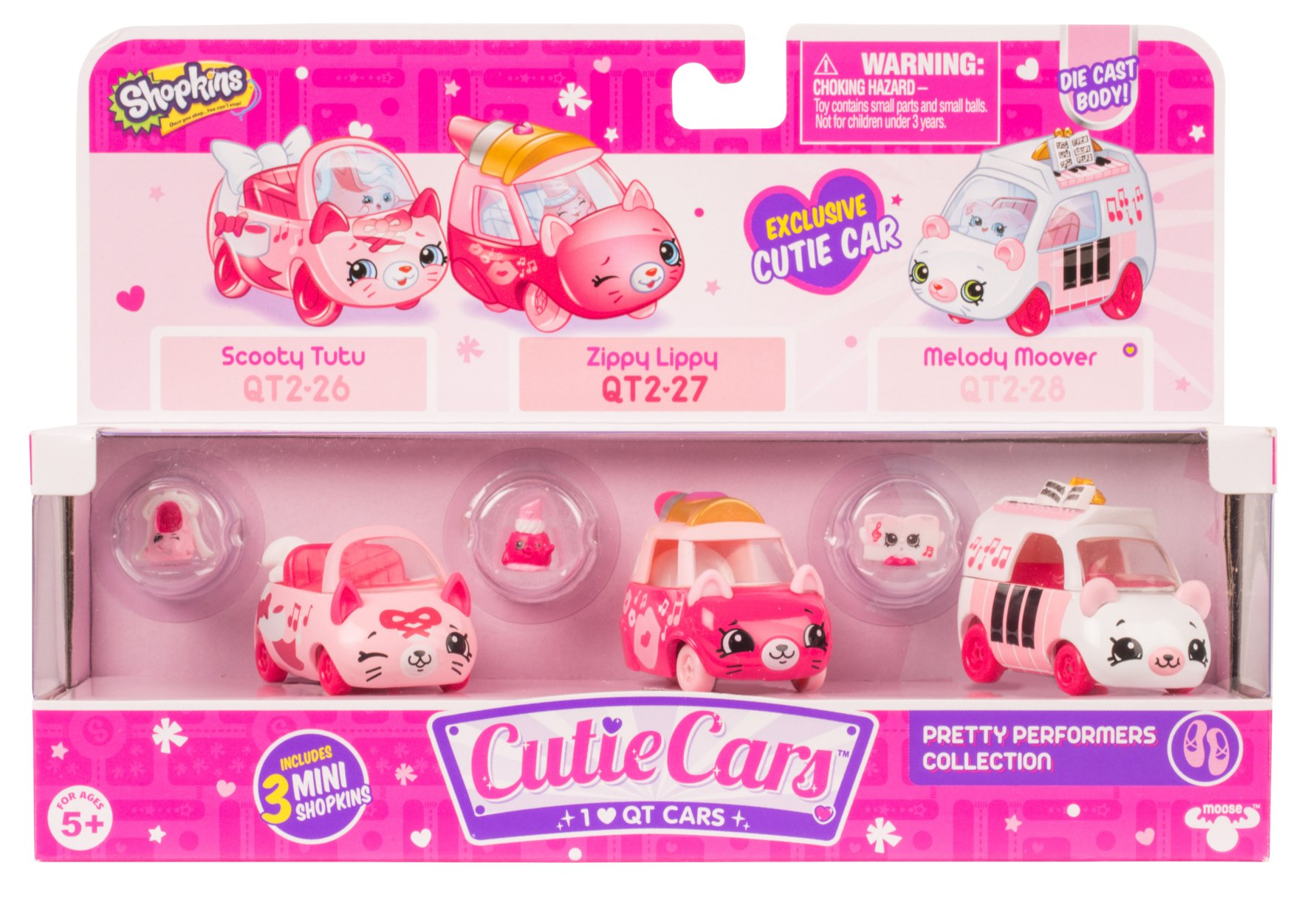 Shopkins Cutie Cars Three Pack - Pretty Performers Collection
