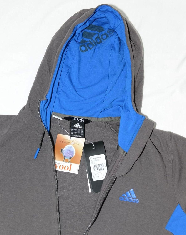 Adidas HT DRW Hood Wool Outdoor Jacket Multifunction Sports jacket Size L-XL grey