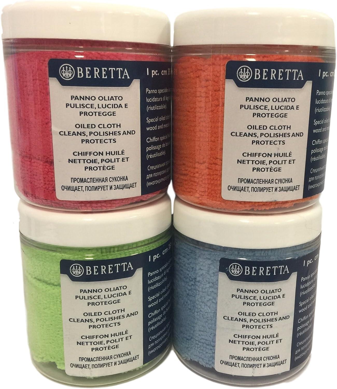 Beretta Microfiber Cloth Soaked Genuine Gun Oil (OL32) for Polishing Wood and Metal (Assorted Colors)