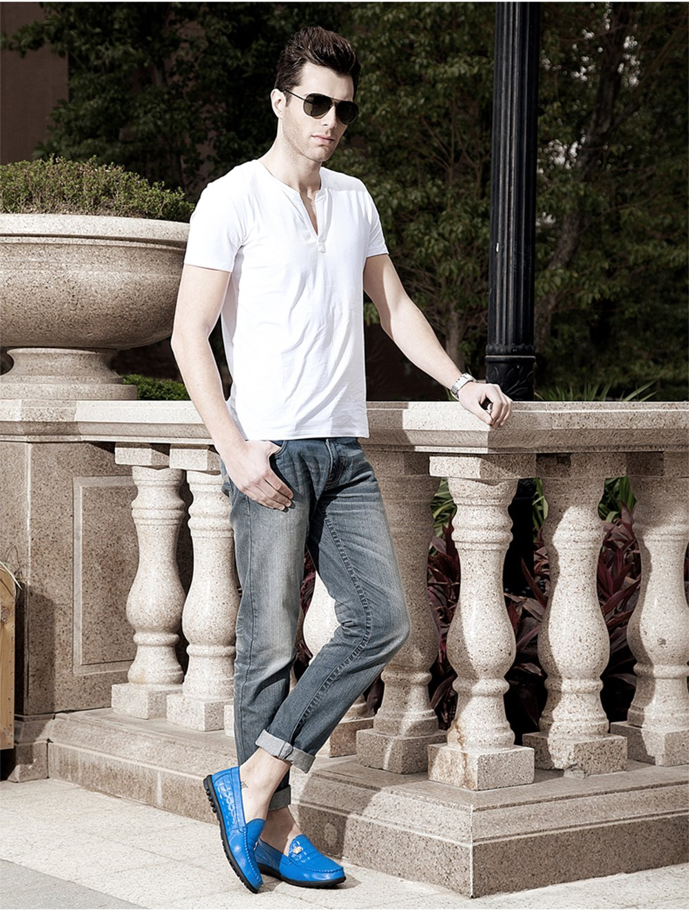Men's Waterproof Slip-Ons - Perfect for Casual Walking and Outdoor Activities M01-42Be by HUMGFENG (Image #8)