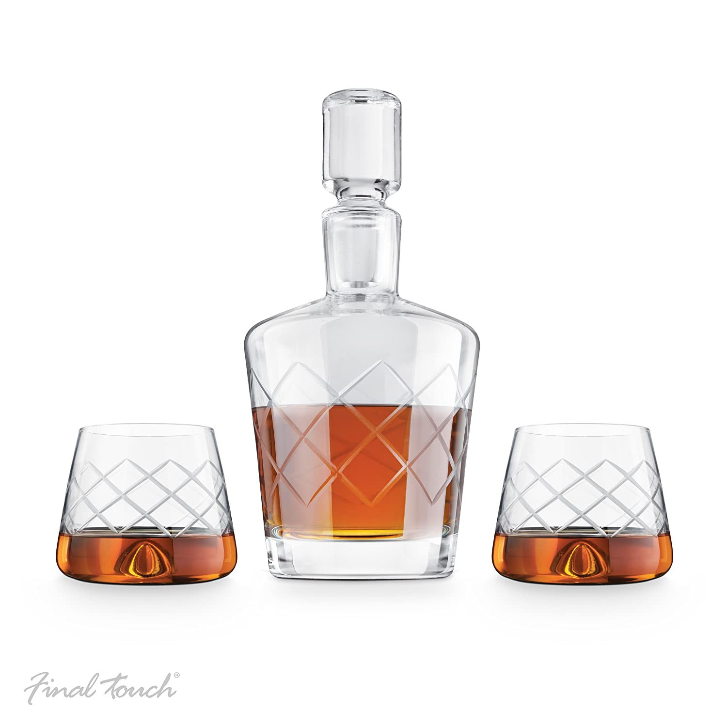 Final Touch Durashield Whisky Decanter Set