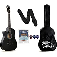 Intern INT-38C-L-BK Left Hand Acoustic Guitar Kit (Black)