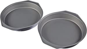 AmazonBasics Nonstick Carbon Steel Cake Pan - 9-Inch, 2-Pack
