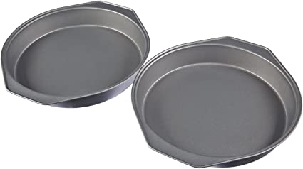 AmazonBasics - Moldes para hornear pasteles, antiadherentes, de acero al carbono, juego de