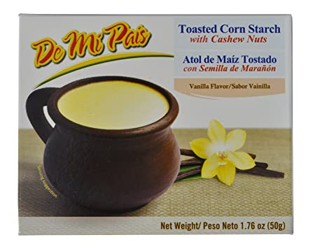 Amazon.com : Atol de Maíz con Semillas de Marañon sabor a Vainilla / Toasted Corn Drink Mix with Cashew Nuts, Vanilla Flavor 1.76 oz - 12 Pack : Grocery ...
