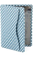 Polka Dot Leather Oyster Card Holder / Travel Pass Holder by 1642 (Blue)