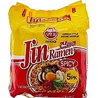 Ottogi Jin Ramen Spicy, 120g (Pack of 5)