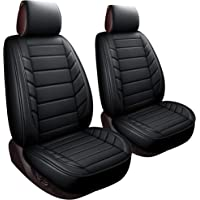 LUCKYMAN CLUB 2 Front Driver Seat Covers Fit Most Sedan SUV Truck Fit for 4runner Tacoma Rav4 Corolla Camry Prius Sienna Acura Tl Tsx 4 Runner (2 PCS Front, Black)