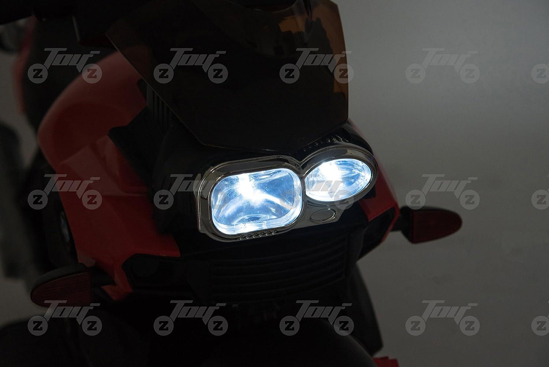 toyzz KIDS NEW SCRAMBLER RECHARGEABLE MOTORBIKE MOTOCROSS RIDE ON ELECTRIC 6V BATTERY CAR BIKE BLUE Blue
