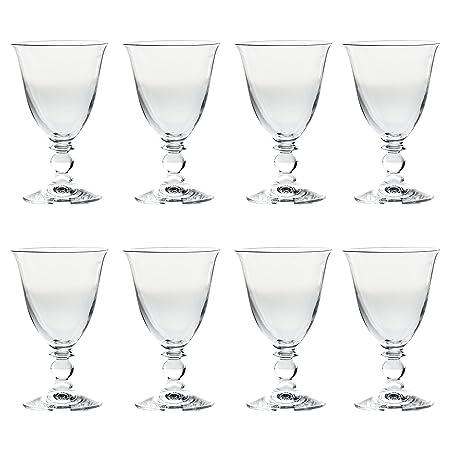 Set Of 8 Elegant Short Stemmed Fluted Clear Wine Glasses Amazon