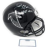 $199 » Deion Sanders Atlanta Falcons Signed Autograph Full Size Throwback Helmet HOF INSCRIBED Steiner Sports Certified