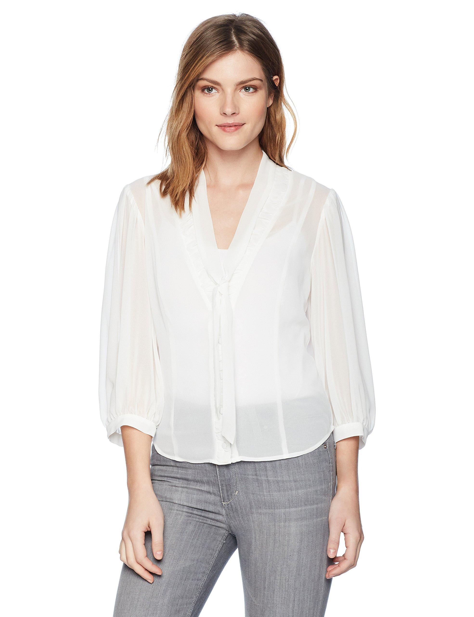 For Love & Lemons Women's LA January Blouse, White, S