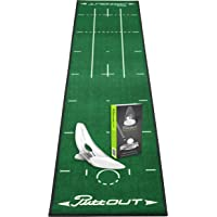 PuttOut Golf Putting Mat and Pressure Trainer Set in 15 Colour Combinations (50 x 240 cm) – Training Aid Indoor Putting Mat Golf Gift Set