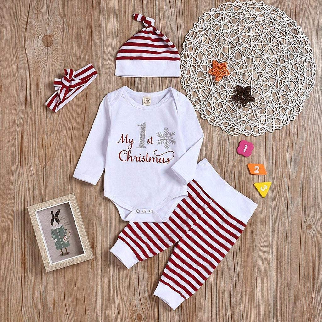 4PCS//Set Newborn Infant Baby Boy Girl Fashion Letter Romper Tops SHOBDW Girls Clothing Sets Camouflage Pants Outfits