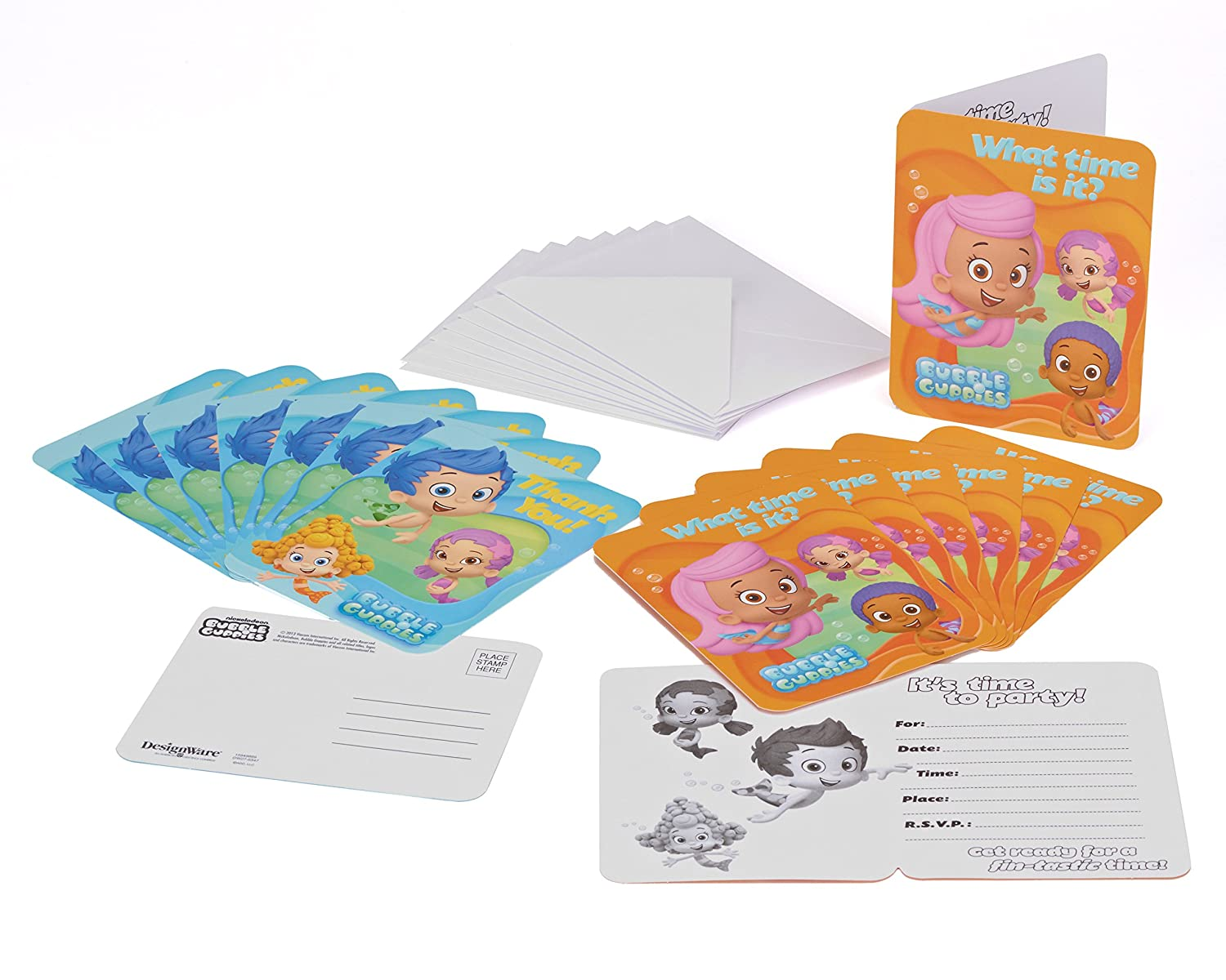Amazon Bubble Guppies Invite And Thank You Combo 8 Pack Toys