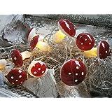 LED Mushroom Light String Decorative Lights Wire Garland Shabby Chic Autumn