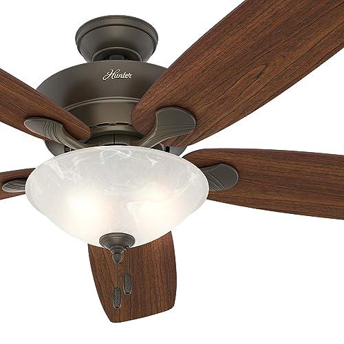 Hunter Fan 60 inch New Bronze Ceiling Fan with LED Light Kit, 5 Blade Renewed