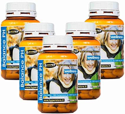 Alcalinizante Calcio magnesio dieta alcalina Vitalidad energética Balance de pH Suplemento 5 frascos de 100 comprimidos