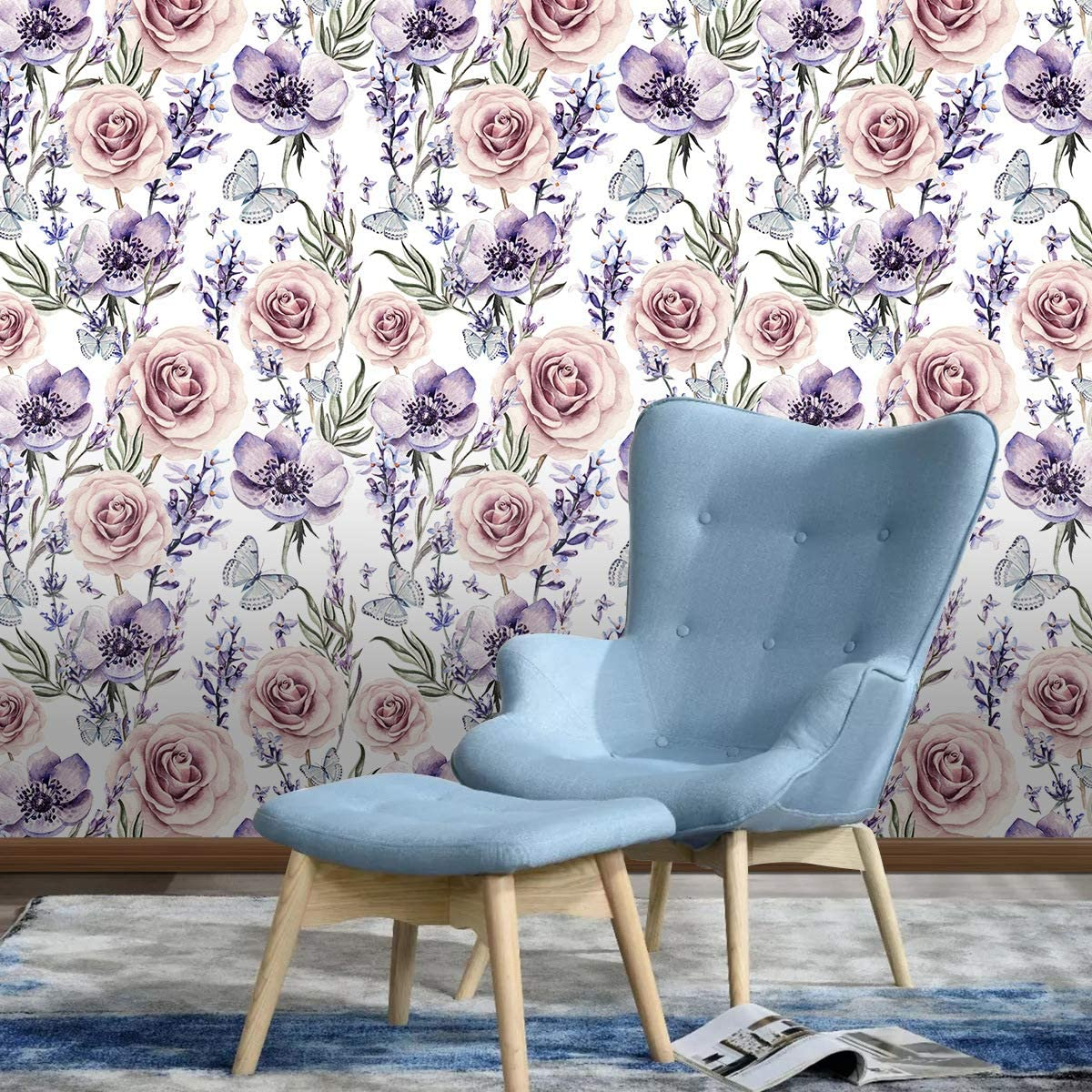 Wallpaper Belzesso Modern Floral Rose Peel And Stick Wallpaper Self Adhesive Removable Wall Decor For Home Bedroom Walls Doors Stairs Cabinets 3871 78 7in Length X 17 7in Width Tools Home Improvement Dccbjagdalpur Com