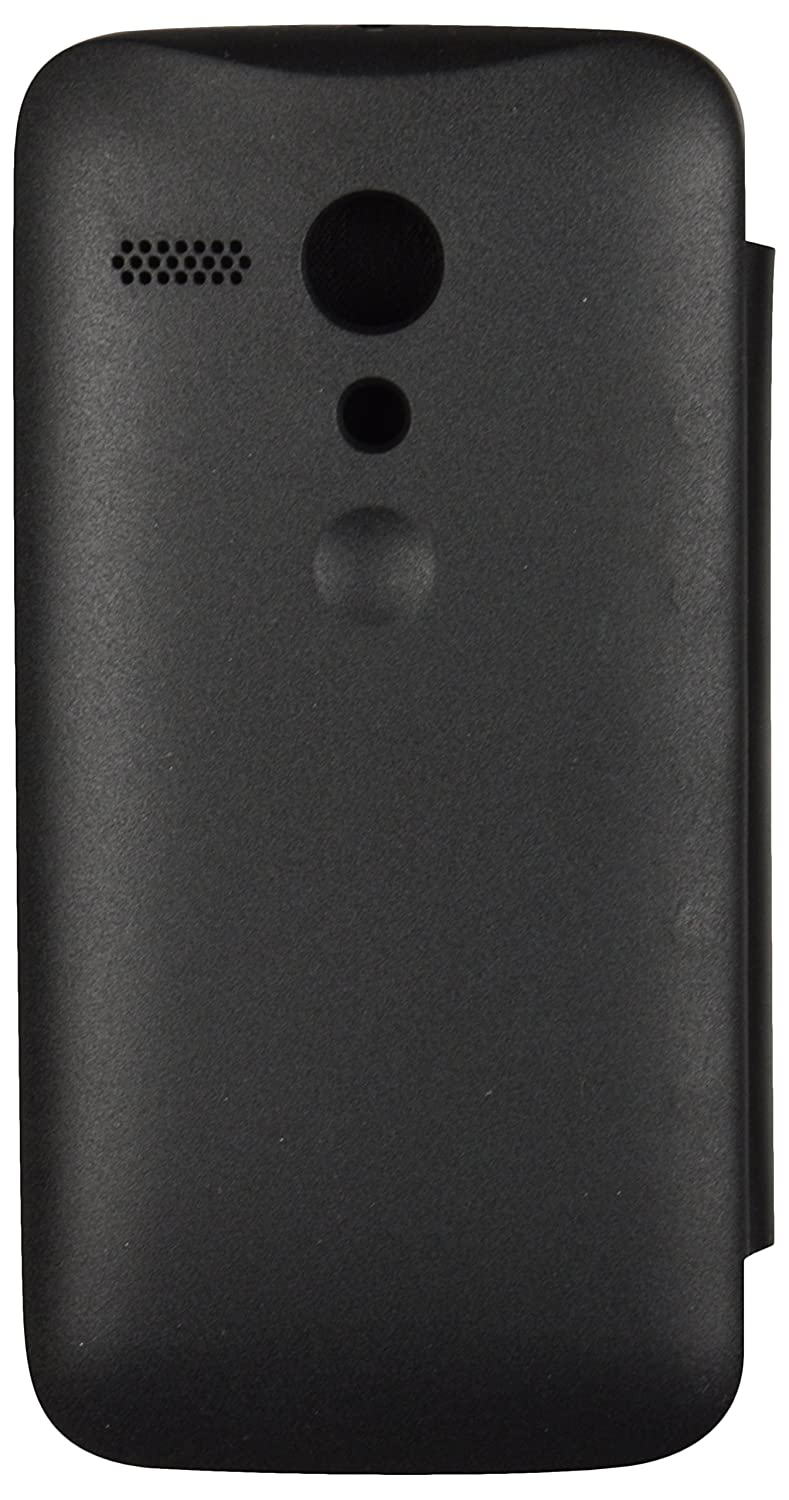 big sale d0237 20964 iCandy™ Synthetic Leather Flip Cover for Motorola Moto G 1st GEN - Black