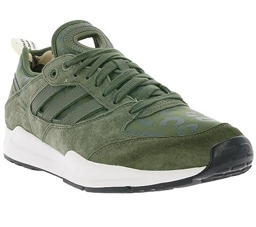 d6e7eaec56 adidas - Zapatillas de Tela para Hombre Verde Verde, Color Verde, Talla 44  2/3: Amazon.es: Zapatos y complementos