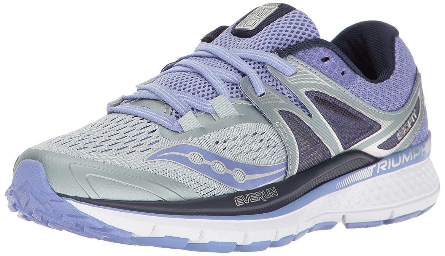 Saucony Women's Triumph Iso 3 Running Sneaker B01MY0XMK8 7 B(M) US|Grey Purple