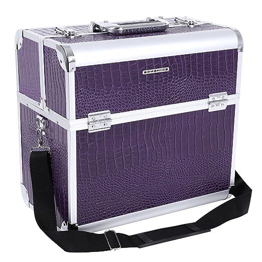 100 opinioni per Songmics® Beauty Case Nail Art Valigia 36,5 x 22 x 35 cm Cofanetto Porta Gioie