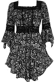01ce97fc57 Dare to Wear Victorian Gothic Peasant Women s Plus Size Renaissance Corset  Top