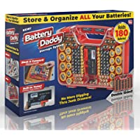 Ontel Battery Daddy 180 Battery Organizer and Storage Case 180 Piece Deals